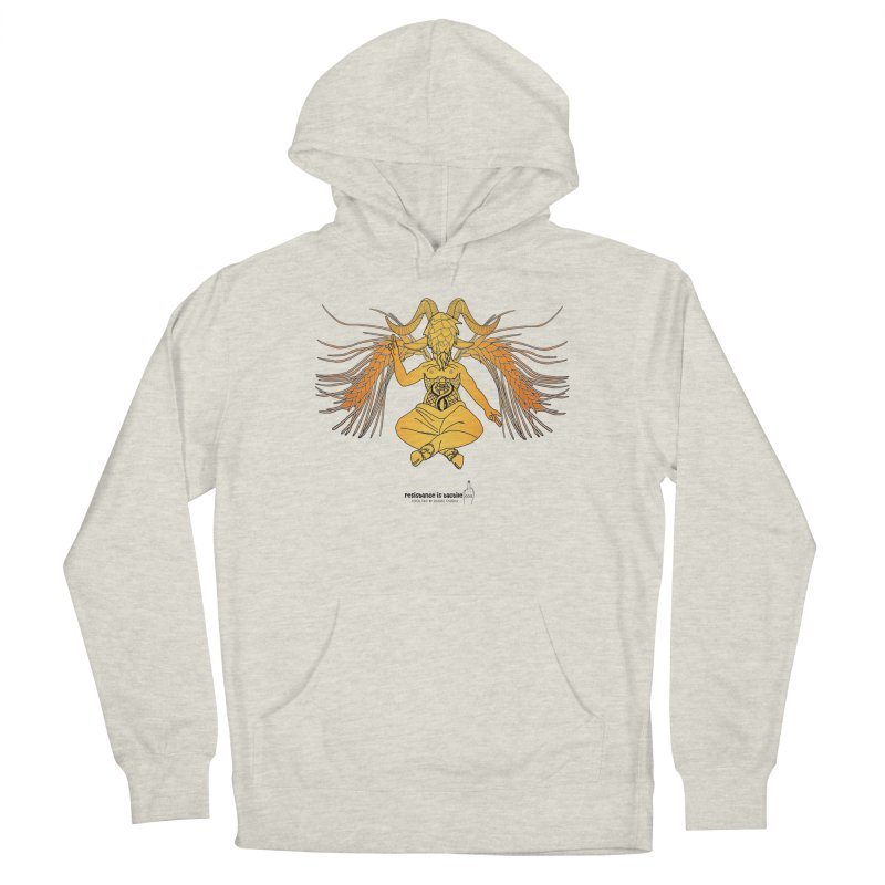 Beerphomet Men's French Terry Pullover Hoody by Resistance is Tactile