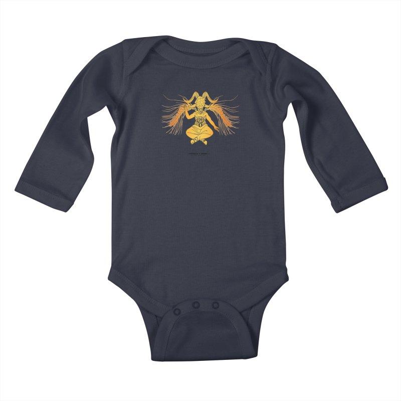 Beerphomet Kids Baby Longsleeve Bodysuit by Resistance is Tactile
