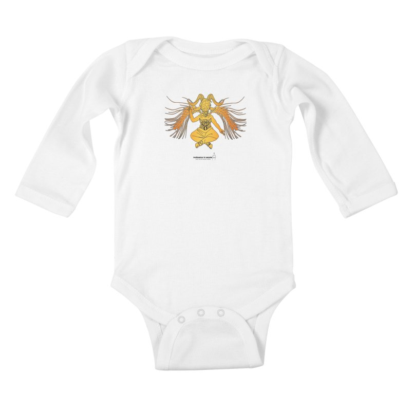 Beerphomet Kids Baby Longsleeve Bodysuit by Resistance is Tactile