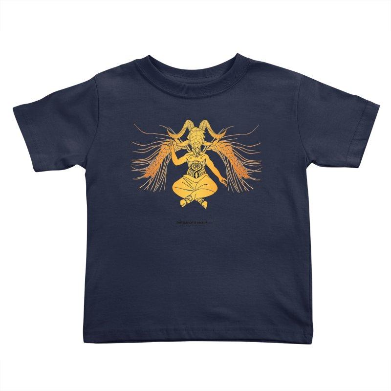 Beerphomet Kids Toddler T-Shirt by Resistance is Tactile
