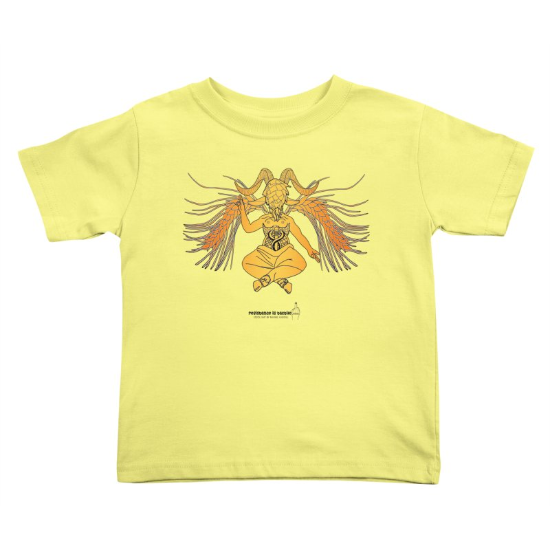 Beerphomet Kids Toddler T-Shirt by Resistance is Tactile