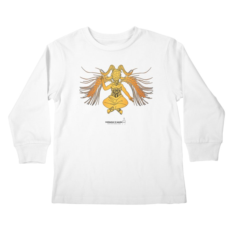 Beerphomet Kids Longsleeve T-Shirt by Resistance is Tactile
