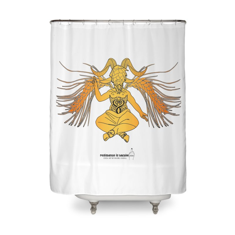 Beerphomet Home Shower Curtain by Resistance is Tactile