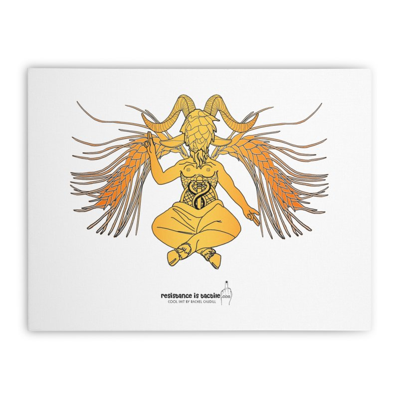 Beerphomet Home Stretched Canvas by Resistance is Tactile