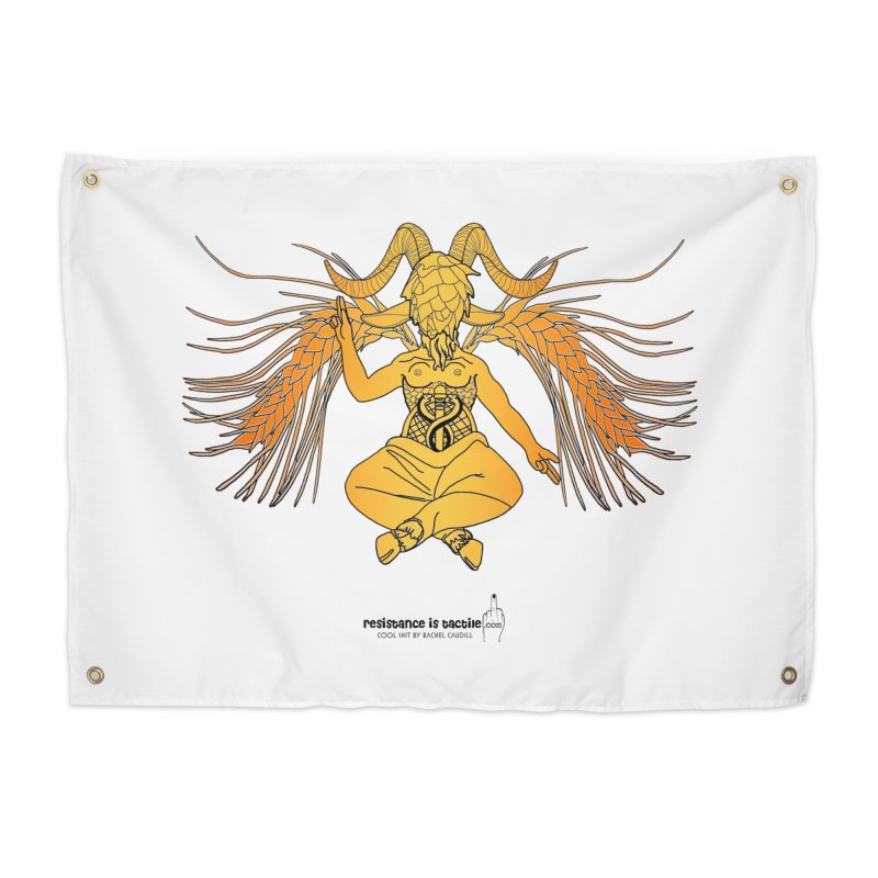 Beerphomet Home Tapestry by Resistance is Tactile