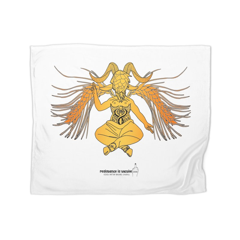 Beerphomet Home Fleece Blanket Blanket by Resistance is Tactile