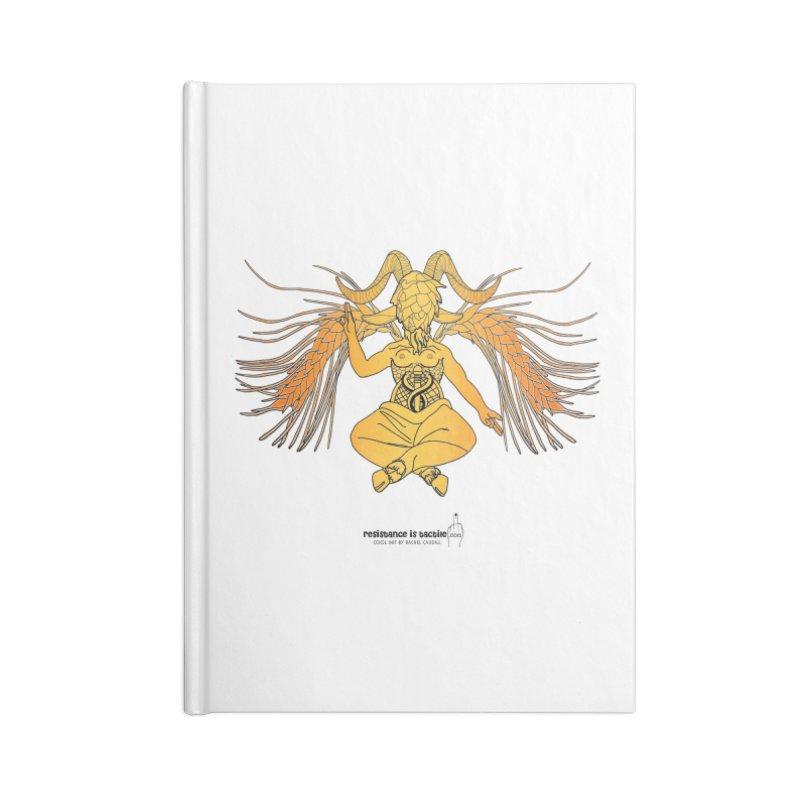 Beerphomet Accessories Lined Journal Notebook by Resistance is Tactile