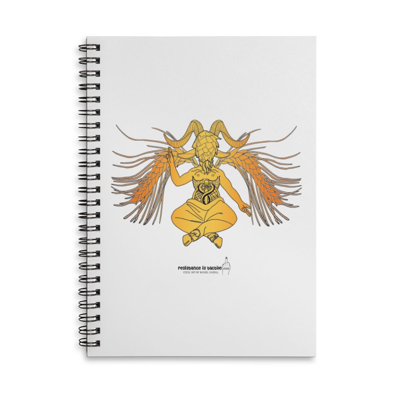 Beerphomet Accessories Lined Spiral Notebook by Resistance is Tactile