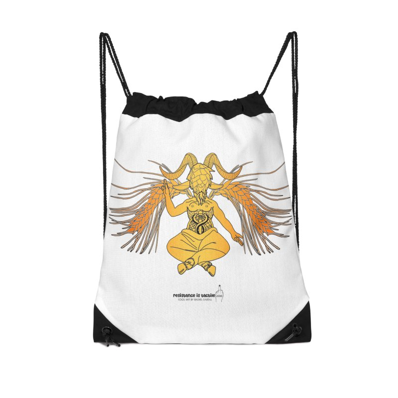 Beerphomet Accessories Drawstring Bag Bag by Resistance is Tactile
