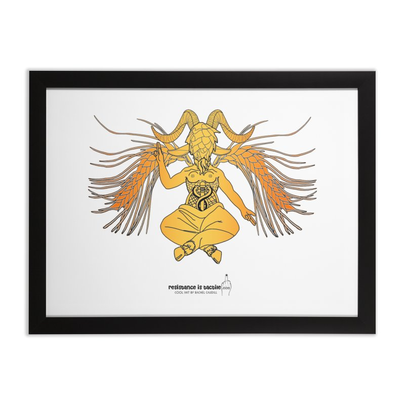Beerphomet Home Framed Fine Art Print by Resistance is Tactile