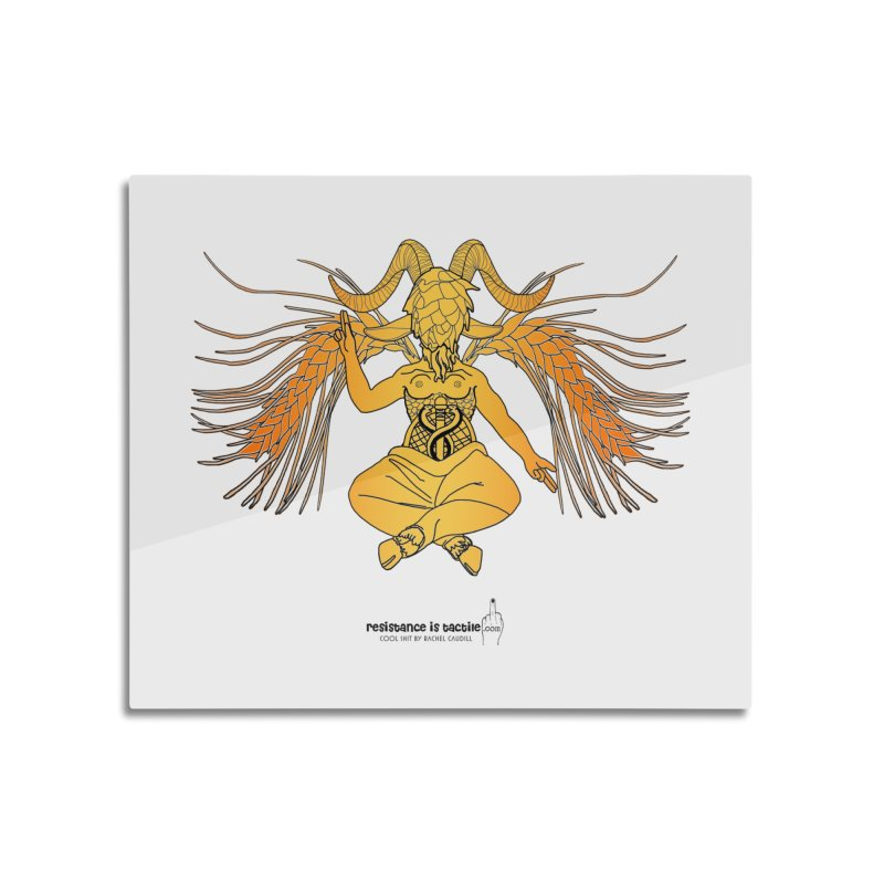 Beerphomet Home Mounted Acrylic Print by Resistance is Tactile