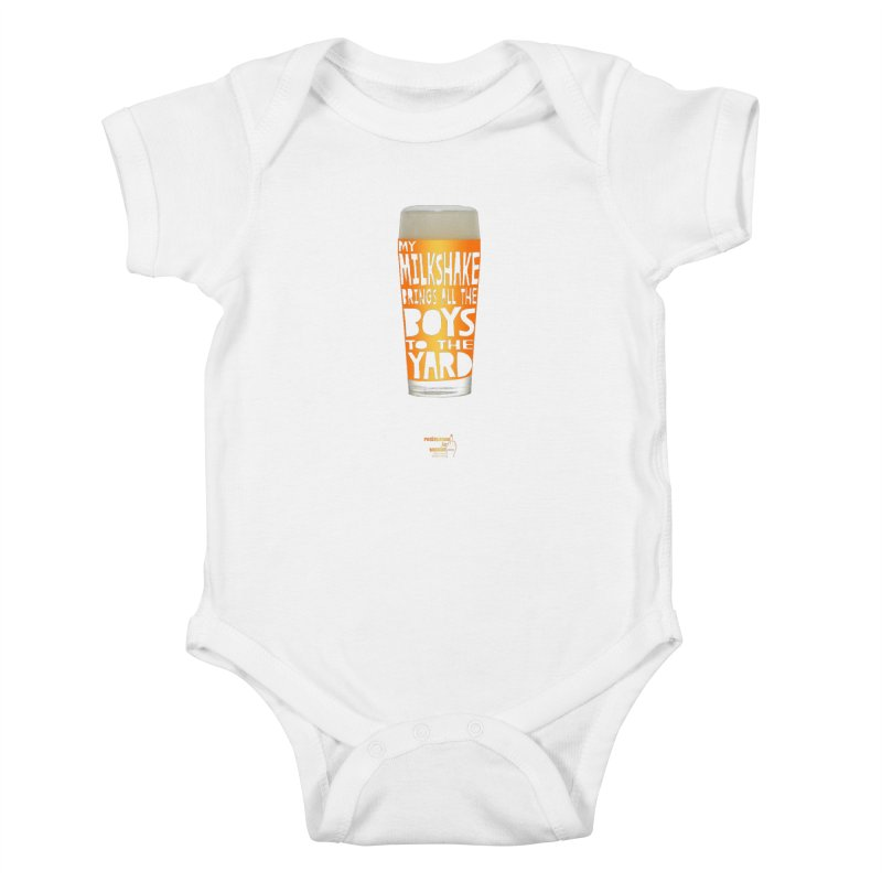 my NEIPA brings all the boys to the yard, sigh Kids Baby Bodysuit by Resistance is Tactile