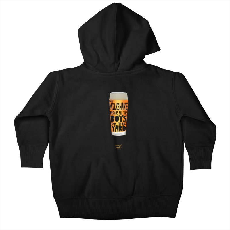 my NEIPA brings all the boys to the yard, sigh Kids Baby Zip-Up Hoody by Resistance is Tactile