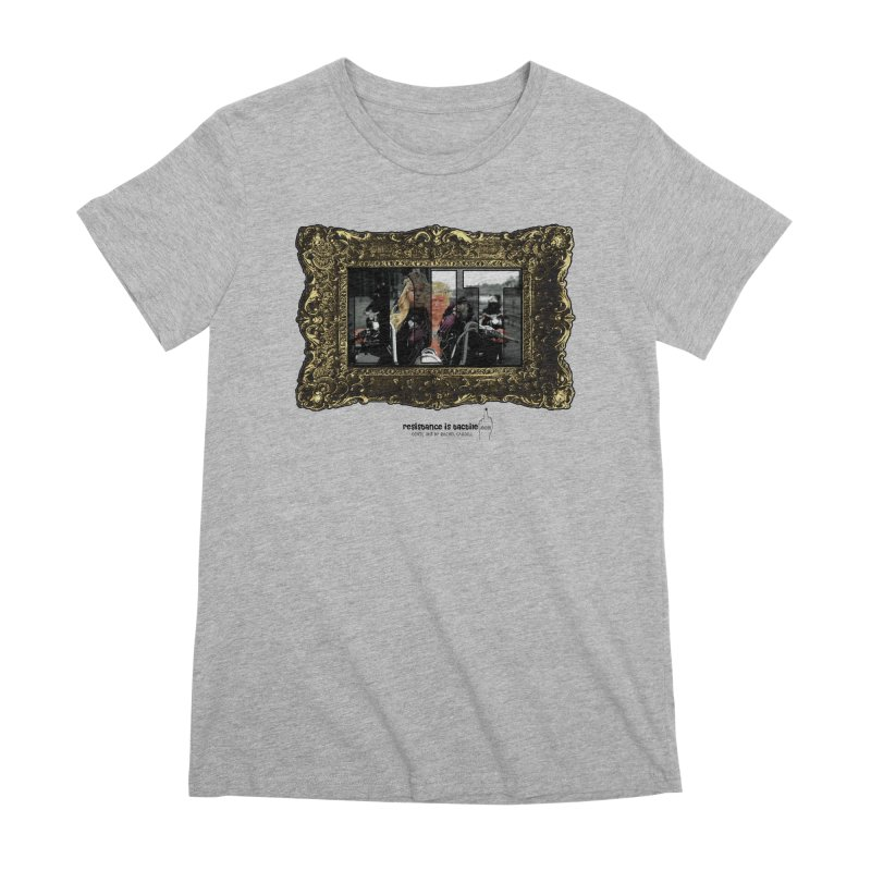 DJT on TWD on INRI Women's Premium T-Shirt by Resistance is Tactile