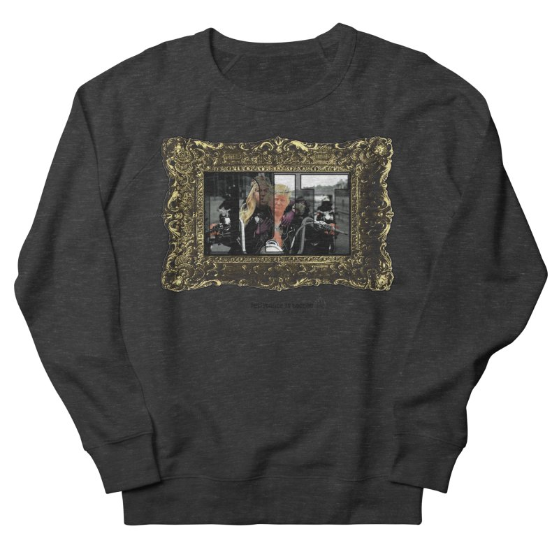 DJT on TWD on INRI Men's French Terry Sweatshirt by Resistance is Tactile