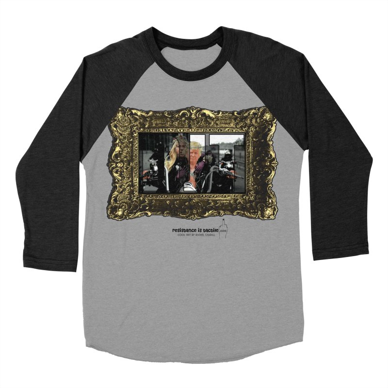 DJT on TWD on INRI Women's Baseball Triblend Longsleeve T-Shirt by Resistance is Tactile