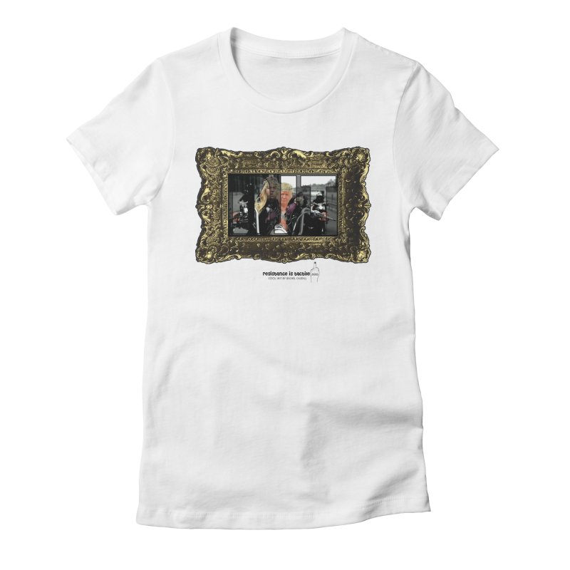 DJT on TWD on INRI Women's Fitted T-Shirt by Resistance is Tactile