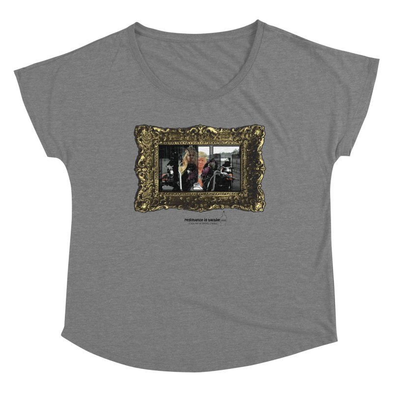 DJT on TWD on INRI Women's Scoop Neck by Resistance is Tactile