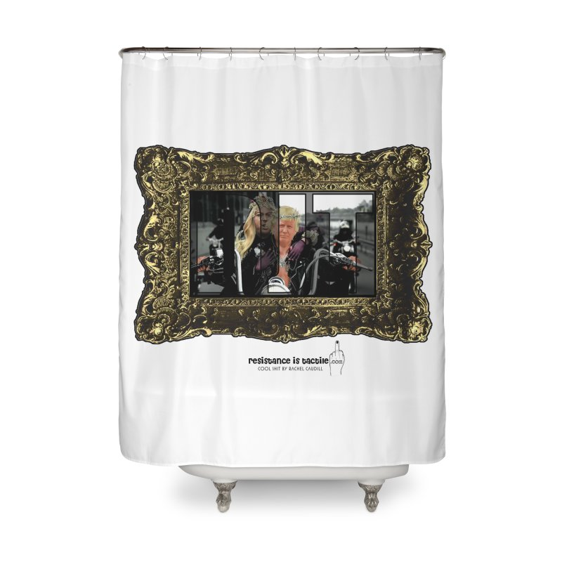 DJT on TWD on INRI Home Shower Curtain by Resistance is Tactile
