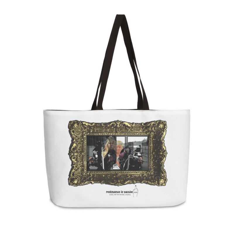 DJT on TWD on INRI Accessories Weekender Bag Bag by Resistance is Tactile