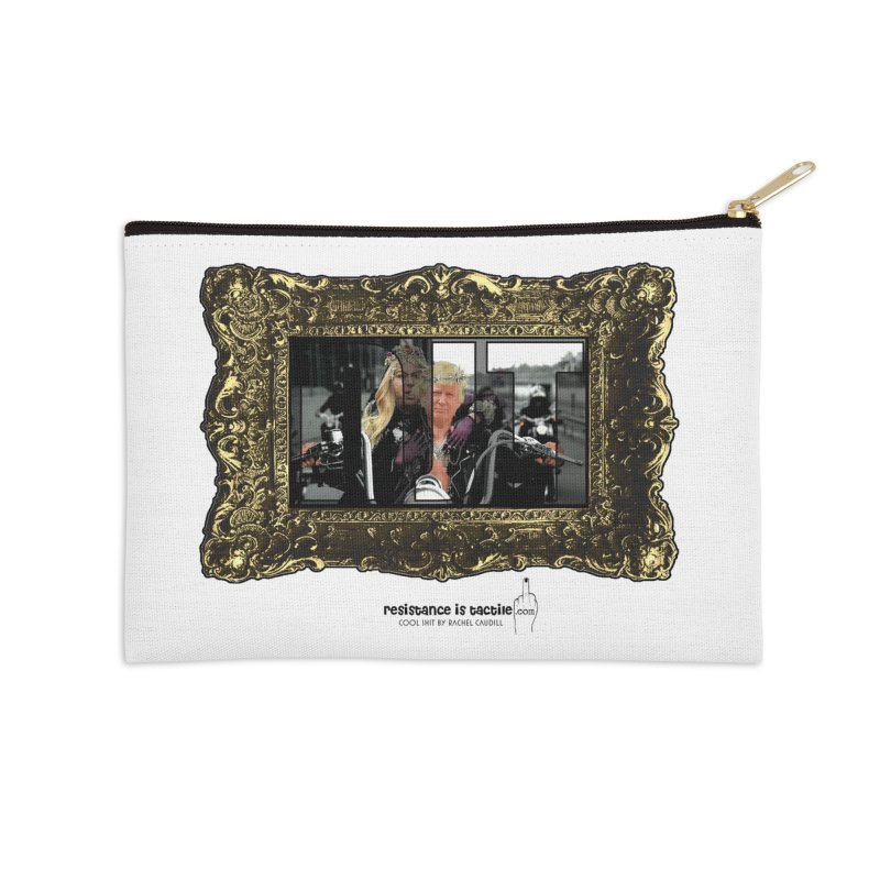 DJT on TWD on INRI Accessories Zip Pouch by Resistance is Tactile