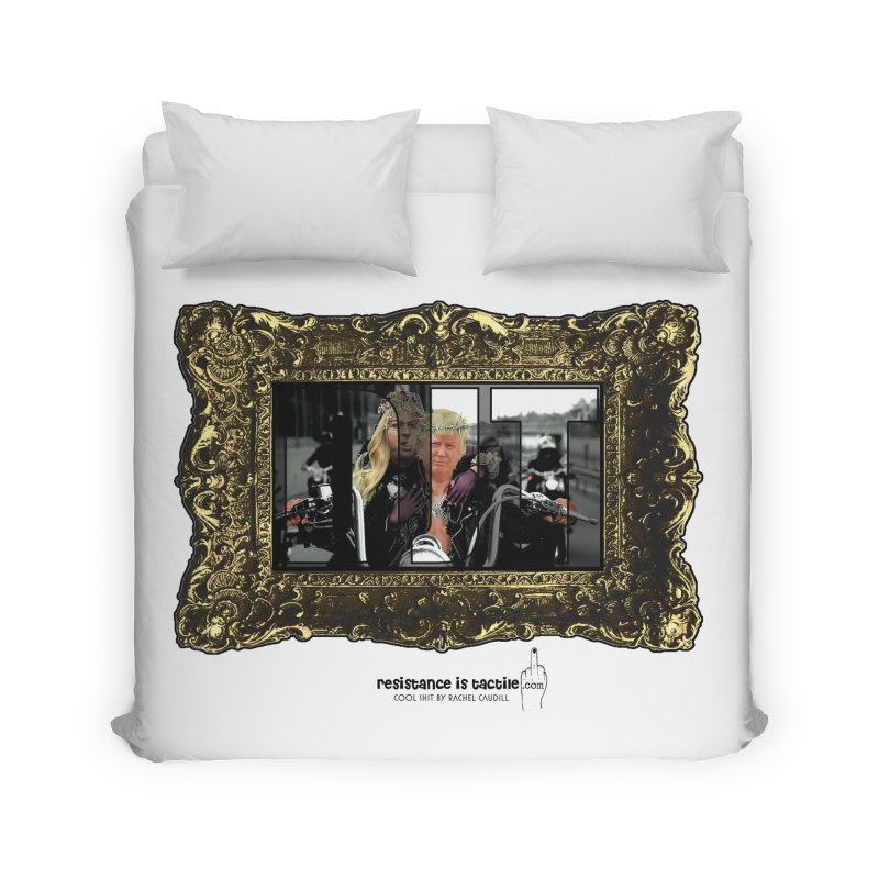 DJT on TWD on INRI Home Duvet by Resistance is Tactile