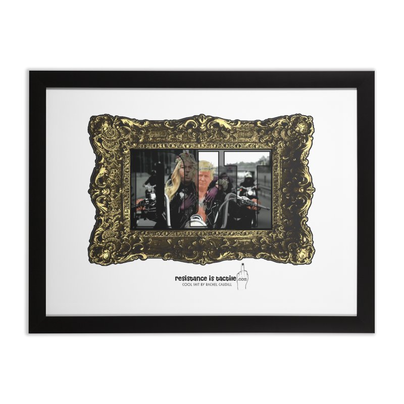 DJT on TWD on INRI Home Framed Fine Art Print by Resistance is Tactile