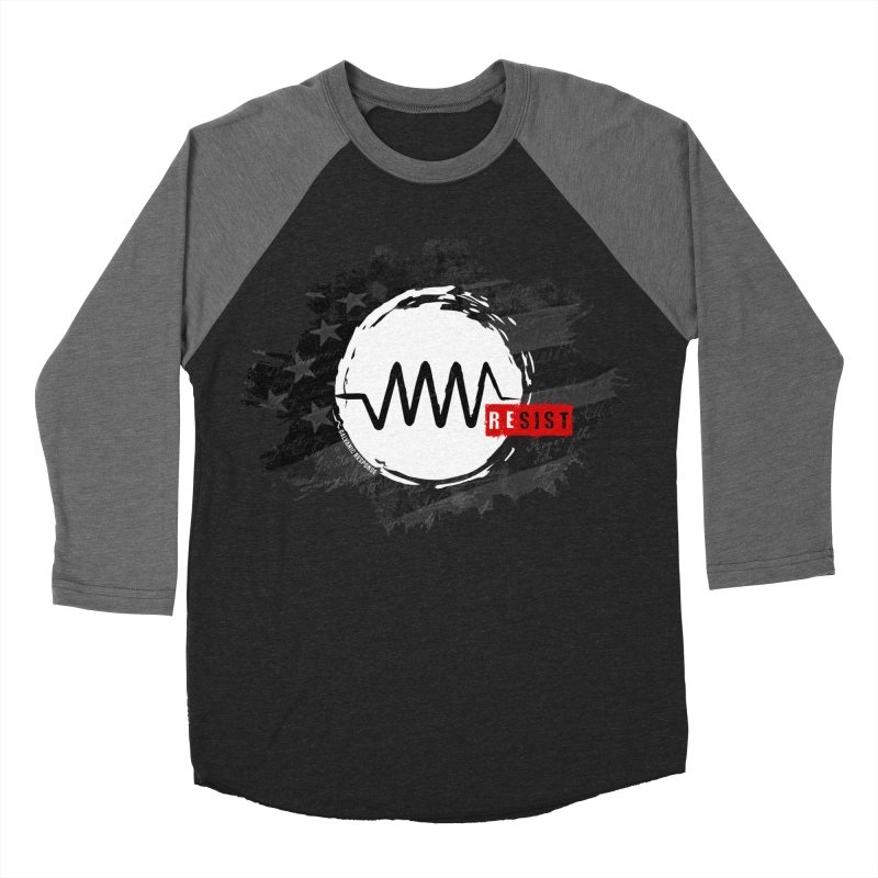 Resist - 1776 Edition in Men's Baseball Triblend T-Shirt Grey Triblend Sleeves by Resist Symbol