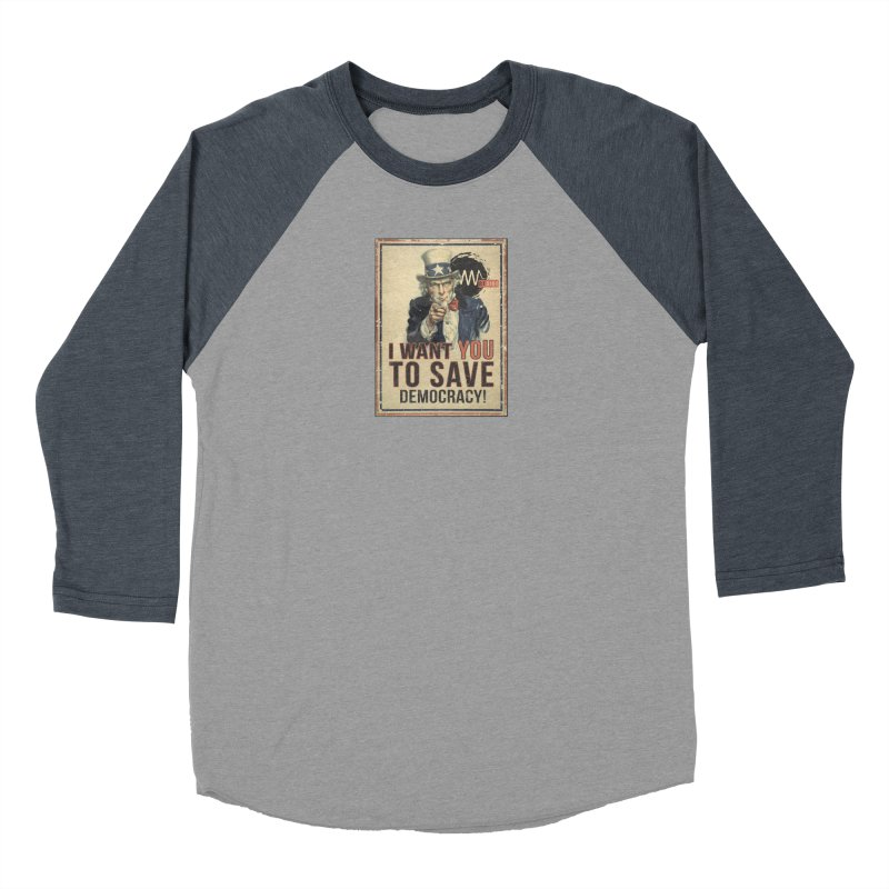 I Want You Men's Baseball Triblend Longsleeve T-Shirt by Resist Symbol
