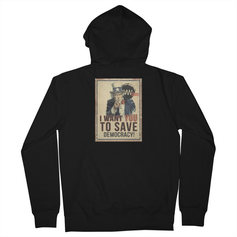 I Want You Men's French Terry Zip-Up Hoody by Resist Symbol
