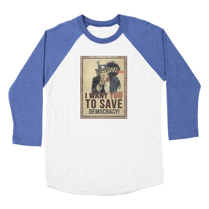 I Want You Women's Baseball Triblend Longsleeve T-Shirt by Resist Symbol