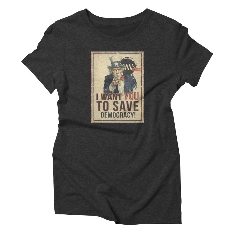 I Want You Women's Triblend T-Shirt by Resist Symbol