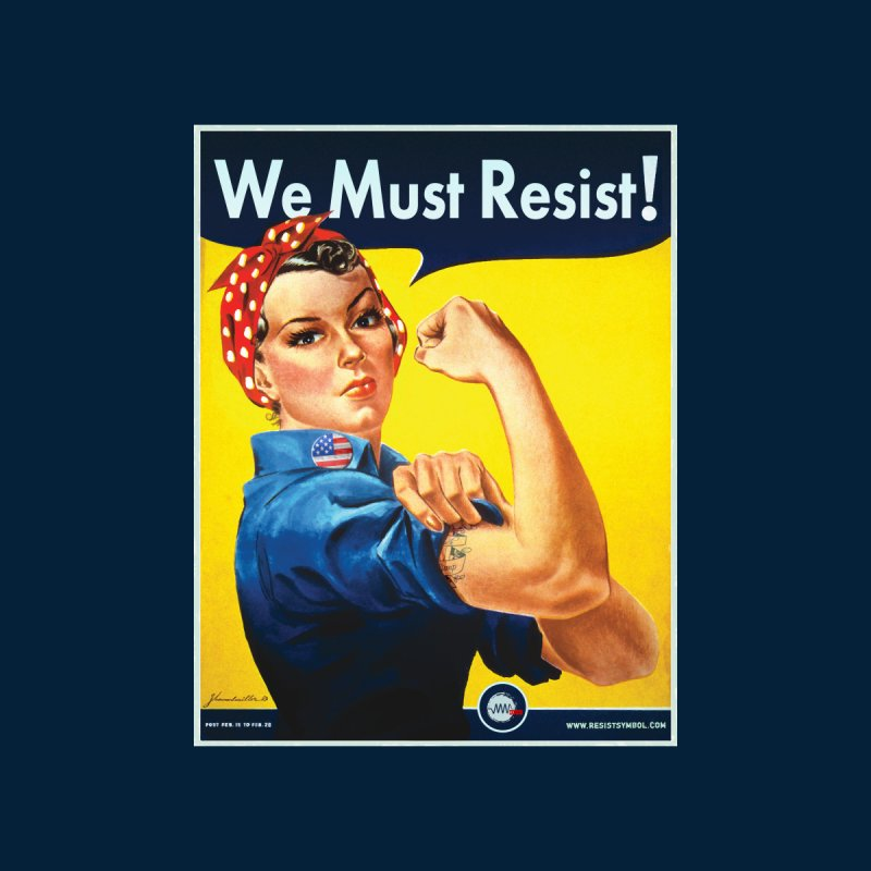 We Must Resist Women's V-Neck by Resist Symbol