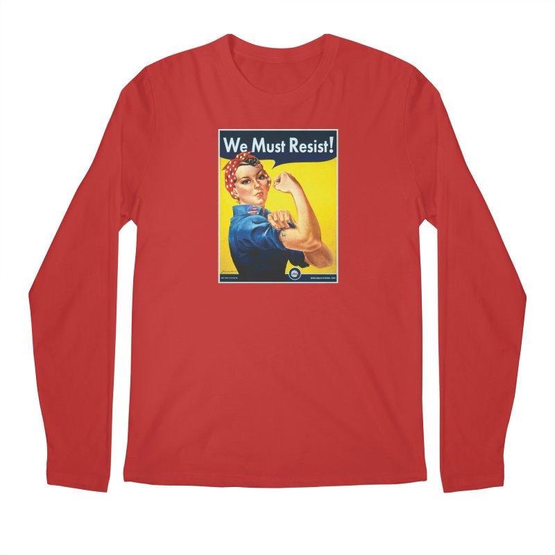 We Must Resist Men's Longsleeve T-Shirt by Resist Symbol