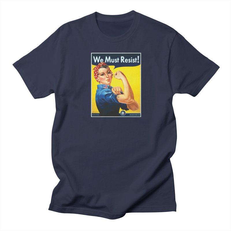 We Must Resist Men's Regular T-Shirt by Resist Symbol
