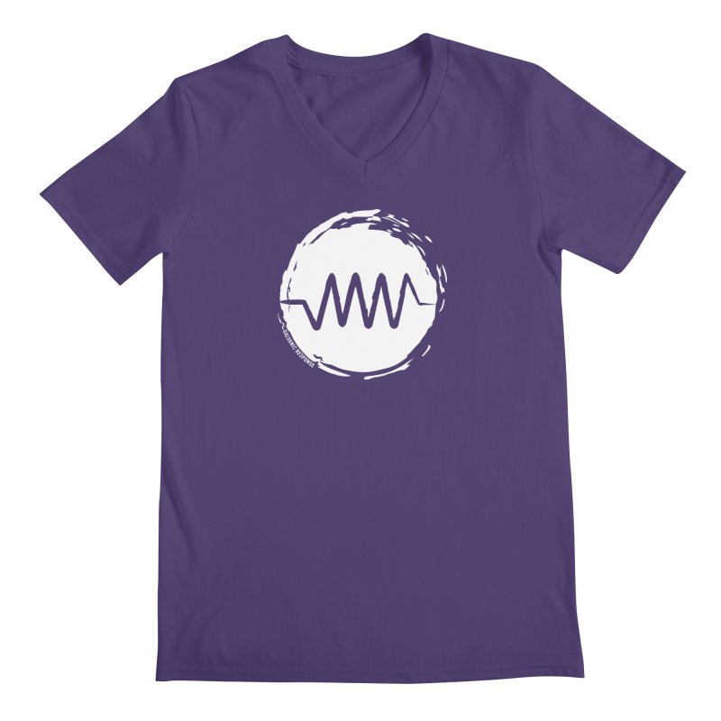 Resist (wordless) in Men's V-Neck Heather Purple by Resist Symbol