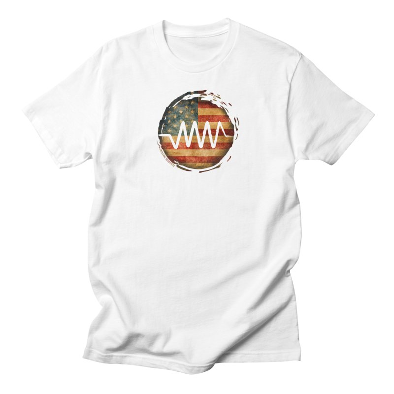 Resist - USA Edition in Women's Regular Unisex T-Shirt White by Resist Symbol
