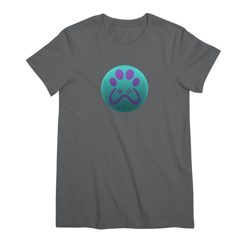Controller Paw Logo Women's Premium T-Shirt by Respawnd Event's Merch Store