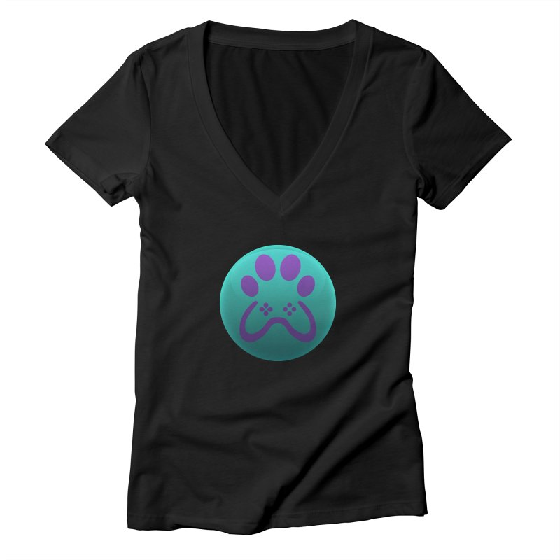 Controller Paw Logo Women's Deep V-Neck V-Neck by Respawnd Event's Merch Store