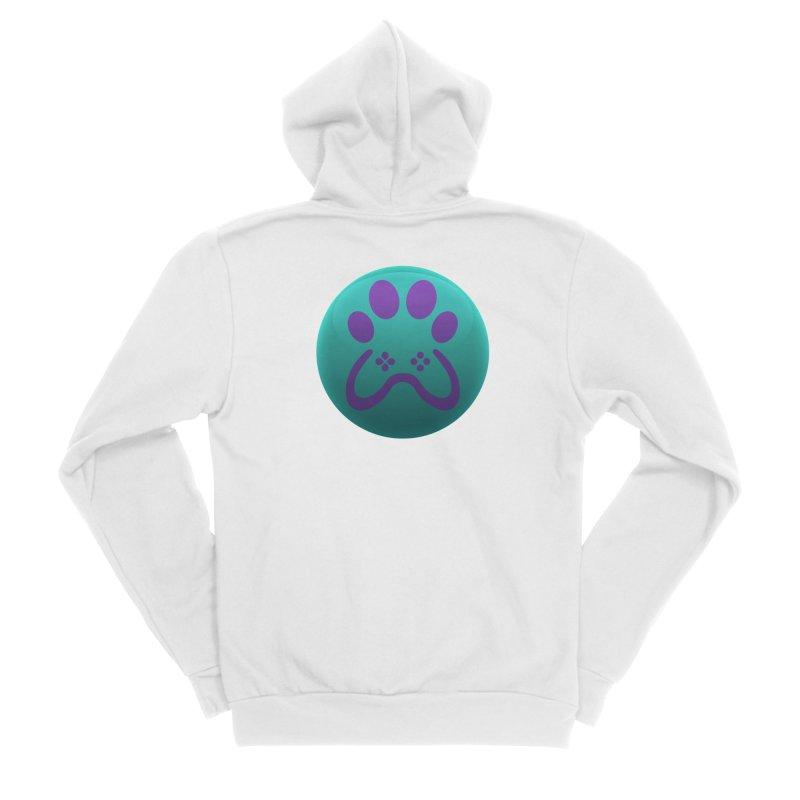 Controller Paw Logo Men's Sponge Fleece Zip-Up Hoody by Respawnd Event's Merch Store