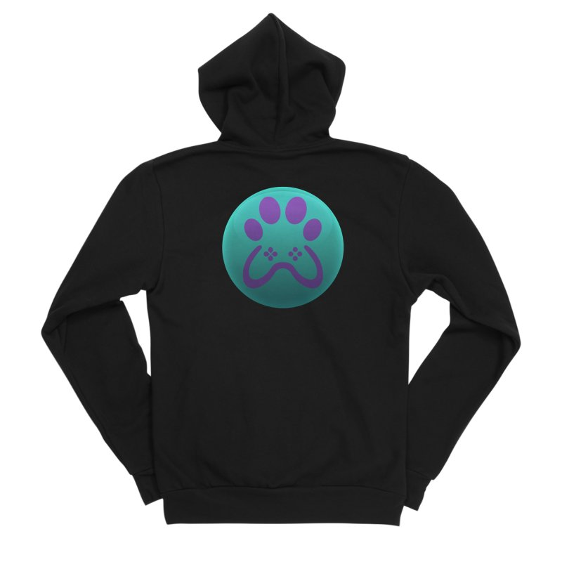 Controller Paw Logo Men's Sponge Fleece Zip-Up Hoody by Respawnd Event's Merch Store