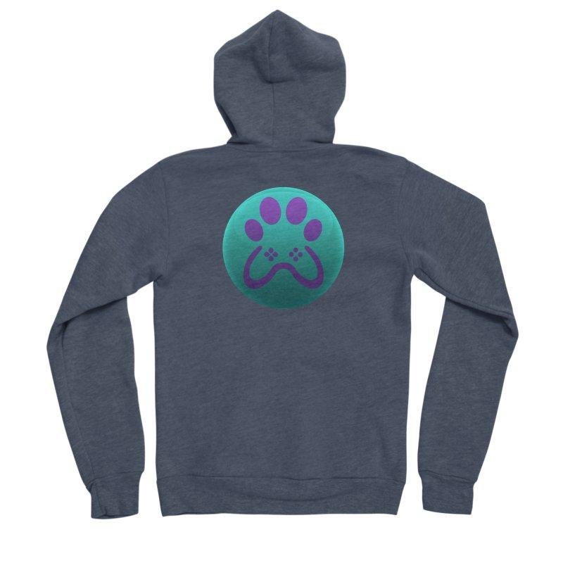 Controller Paw Logo Women's Sponge Fleece Zip-Up Hoody by Respawnd Event's Merch Store