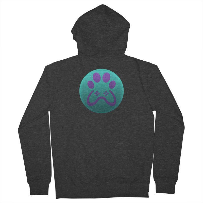 Controller Paw Logo Women's French Terry Zip-Up Hoody by Respawnd Event's Merch Store