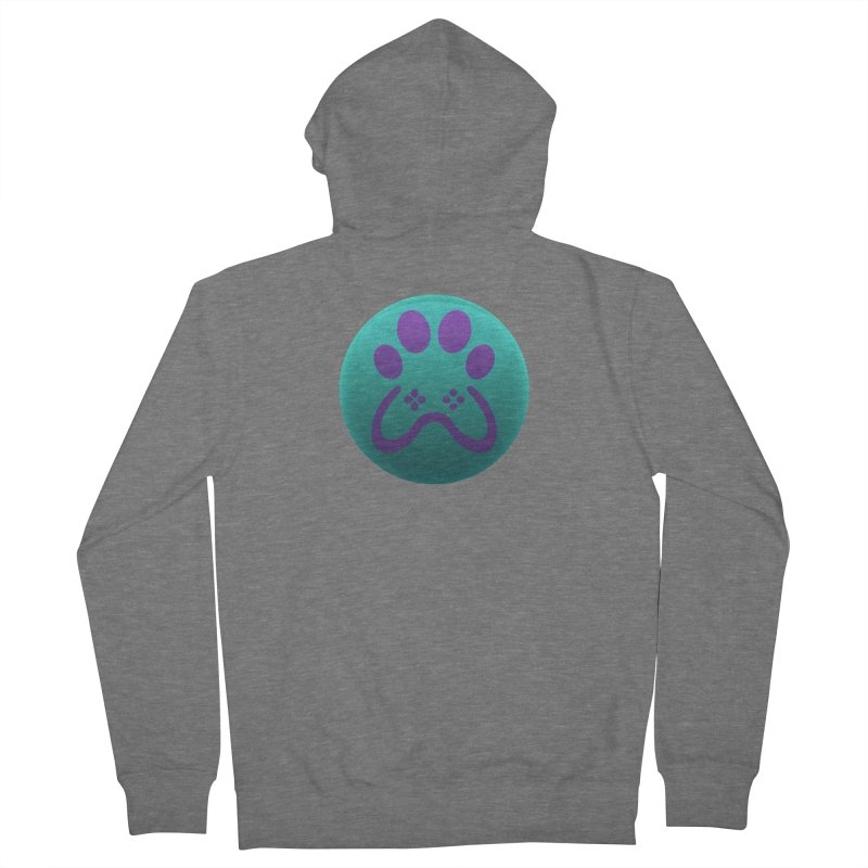 Controller Paw Logo Men's French Terry Zip-Up Hoody by Respawnd Event's Merch Store