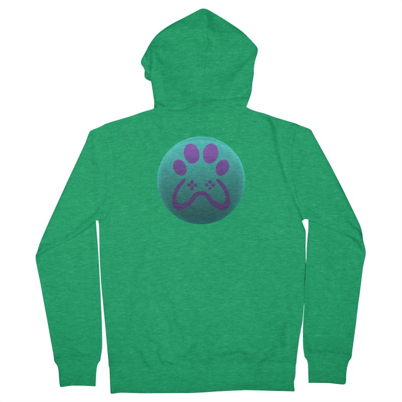 Controller Paw Logo Men's Zip-Up Hoody by Respawnd Event's Merch Store