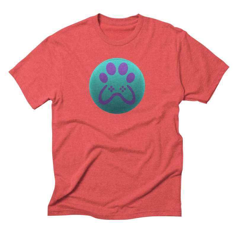 Controller Paw Logo Men's Triblend T-Shirt by Respawnd Event's Merch Store