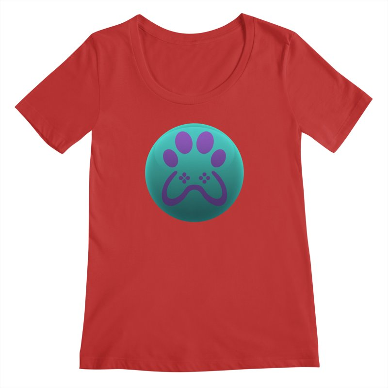 Controller Paw Logo Women's Regular Scoop Neck by Respawnd Event's Merch Store