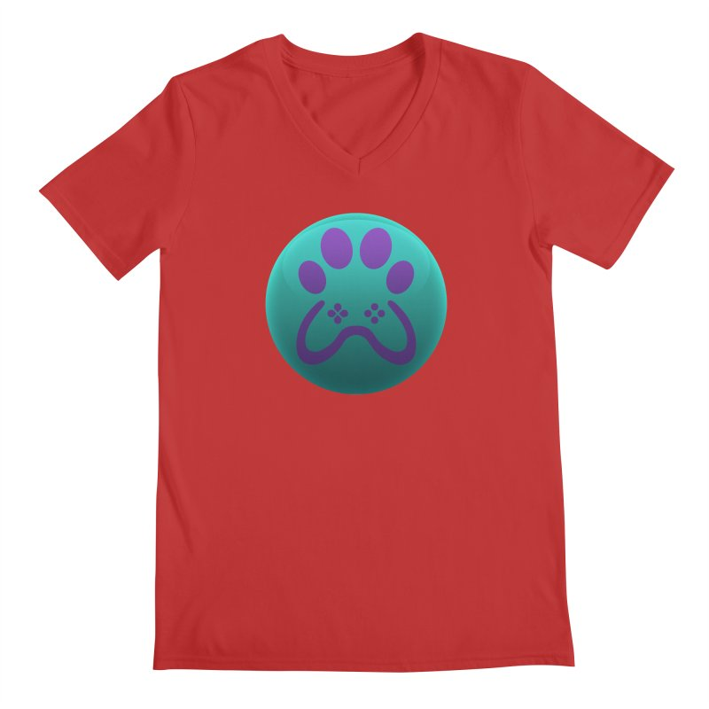 Controller Paw Logo Men's Regular V-Neck by Respawnd Event's Merch Store