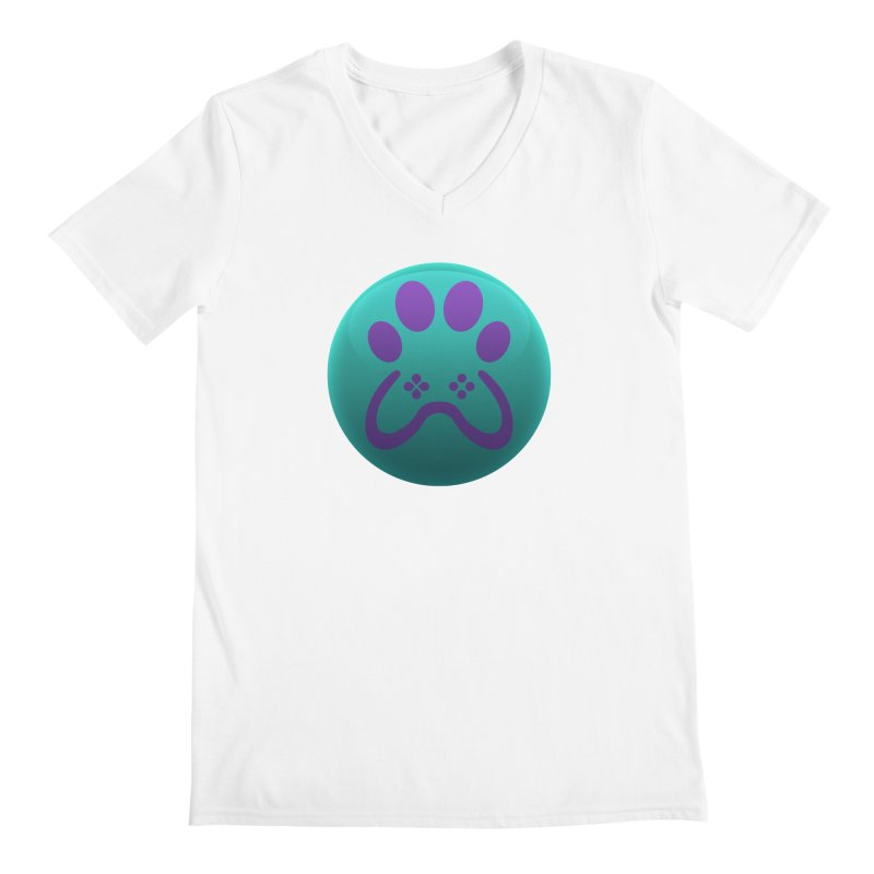 Controller Paw Logo Men's V-Neck by Respawnd Event's Merch Store