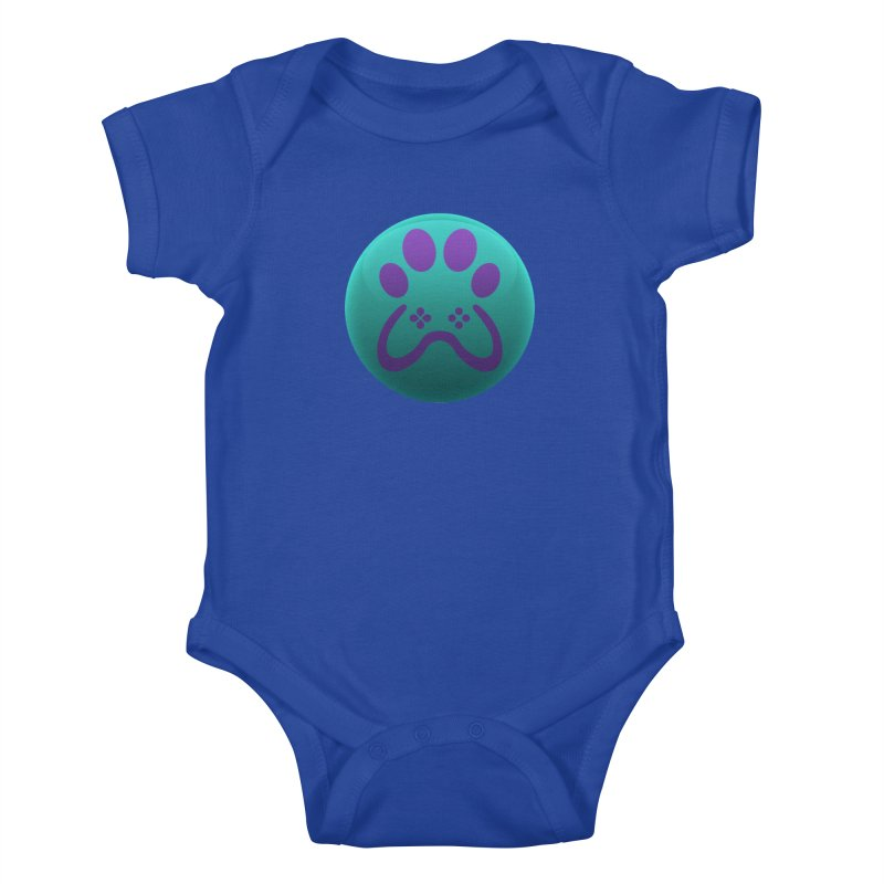 Controller Paw Logo Kids Baby Bodysuit by Respawnd Event's Merch Store